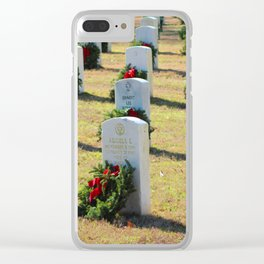 Remembrance Wreaths Clear iPhone Case