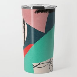 abstract paper collage Travel Mug