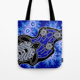 Baby Sea Turtles - Aboriginal Art Tote Bag