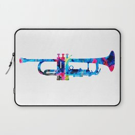 Colorful Trumpet 2 Art By Sharon Cummings Laptop Sleeve