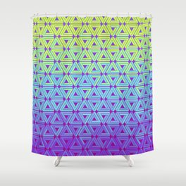 Toxic Revenger Geometric Shower Curtain