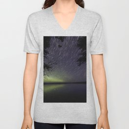 Star Trails on the Water Unisex V-Neck