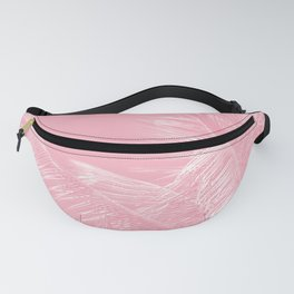 Millennial Pink illumination of Heart White Tropical Palm Hawaii Fanny Pack