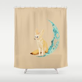 lonely Fennec (blue) Shower Curtain