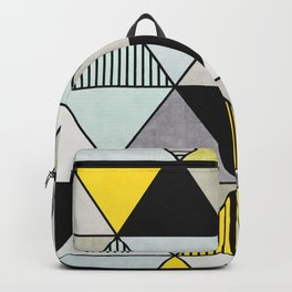 Colorful Concrete Triangles 2 - Yellow, Blue, Grey Backpack