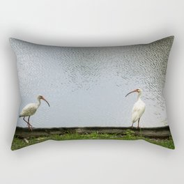 A Lakeside Chat Rectangular Pillow