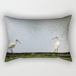 A Lakeside Chat Rectangular Pillow