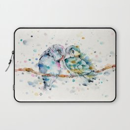 Mr & Mrs Snugglepots [pacific parrotlets] Laptop Sleeve