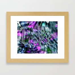Liquid Love by Artist McKenzie Framed Art Print