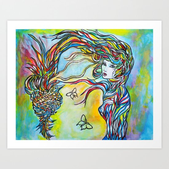 Threads Art Print