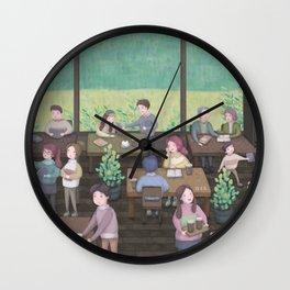 Book cafe Wall Clock