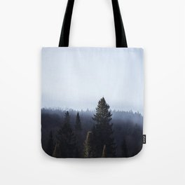 Wanderlusting within the trees Tote Bag