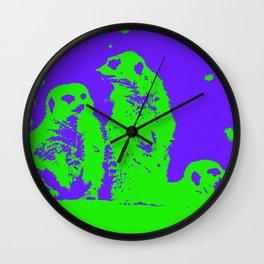Act Natural Meerkat POP Wall Clock