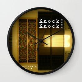 KNOCK KNOCK Wall Clock
