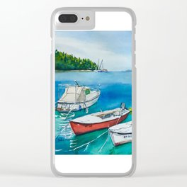 Cavtat boats Clear iPhone Case