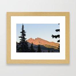 Broken Top Sunset Framed Art Print