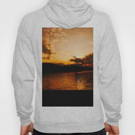 Foys Lake Montana at Sunset, Water Reflection, Neutral Colors Hoody
