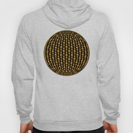 Bead Pattern, Gold & Black Hoody