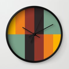 Stripes and swatches Wall Clock