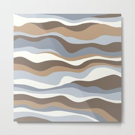 Cordillera Stripe: Neutral Combo Metal Print
