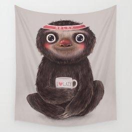 Sloth I♥lazy Wall Tapestry