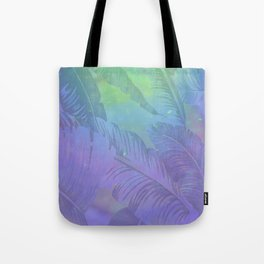 Rainbow in Palms Tote Bag