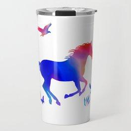 Rainbow horse Travel Mug