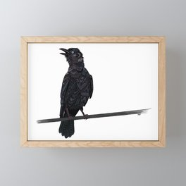 Verklempt Crow Framed Mini Art Print