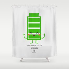 Hoy con toda la energia Shower Curtain