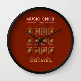 Made to be Displayed — Music Snob Tip #33⅓ B Wall Clock