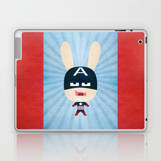 We are all rabbits \ Captain America - Todos somos conejos \  Capitan america Laptop & iPad Skin