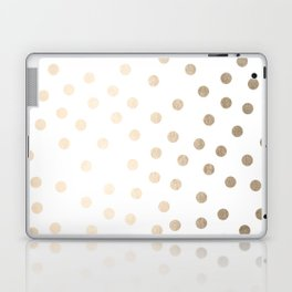 Simply Dots in White Gold Sands Laptop & iPad Skin