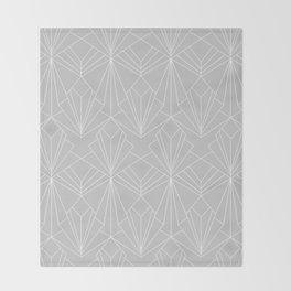 Art Deco on Grey Throw Blanket