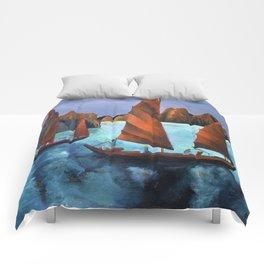 Junks In the Descending Dragon Bay Comforters