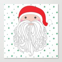 santa Canvas Prints featuring Santa by Doucette Designs