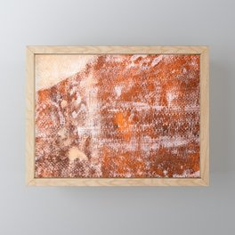 Repaired fiberglass shipboard Framed Mini Art Print