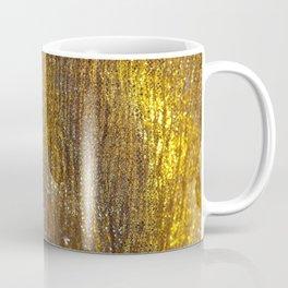 Gold Sparkly Abstract Design Coffee Mug