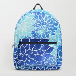 Space Dahlias Sky Blue Backpack