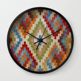 kilim rug pattern Wall Clock