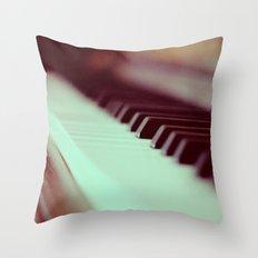 Piano Part 2 Throw Pillow