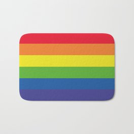 Pattern, Rainbows Colors... Bath Mat