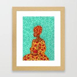 Luisa. Beautiful woman collection Framed Art Print