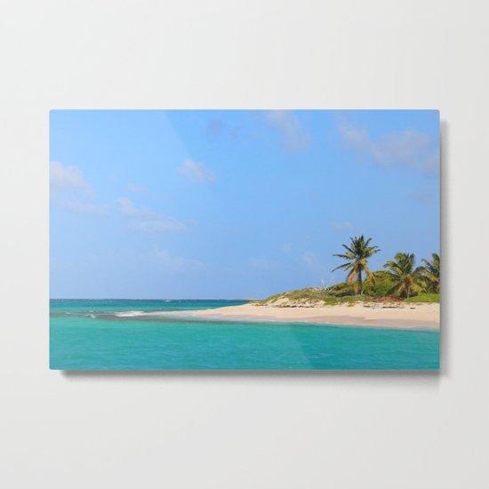 Desert Island Beach: Paradise Beach, Desert Island Metal Print By Savagegierden