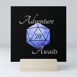 Adventure Awaits - D20 Tabletop Roleplaying Die Mini Art Print