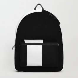 Minimal Black and White Backpack