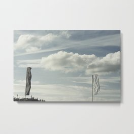 Flying flags Metal Print