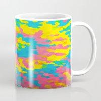 tie dye Mugs featuring Tie Dye by Jillian Stanton