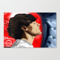 louis tomlinson Canvas Prints featuring Louis Tomlinson by Manny D