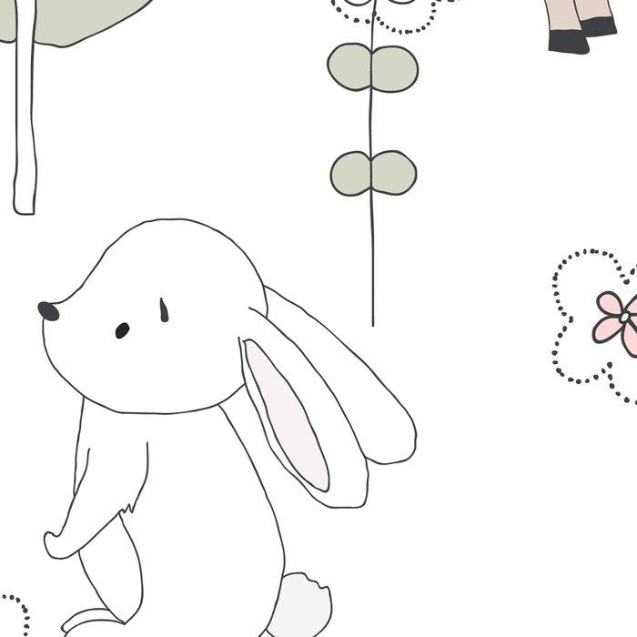 Hand Drawn Cute Animals Leggings