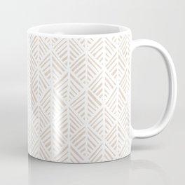 Abstract Leaf Pattern in Tan Coffee Mug